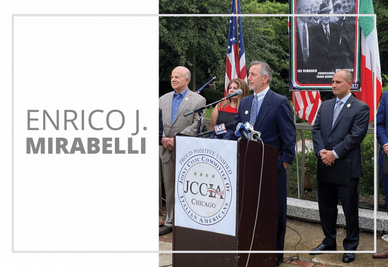 Enrico J. Mirabelli Speaks at JCCIA Press Conference To Bring Back Christopher Columbus Statue.